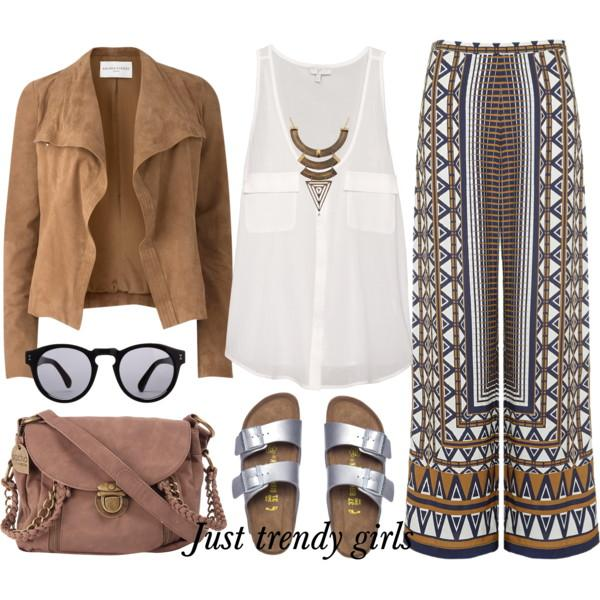 Bohemian easy style outfits | Just